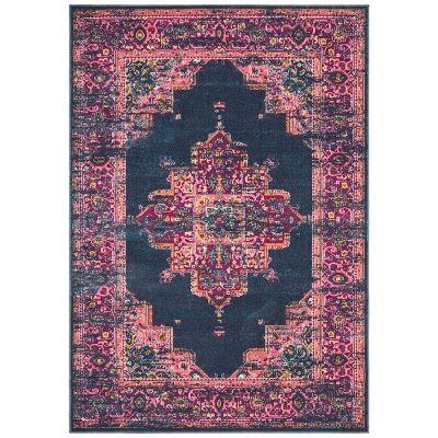 Babylon Zenovia Bohemian Rug, 160x230cm, Navy