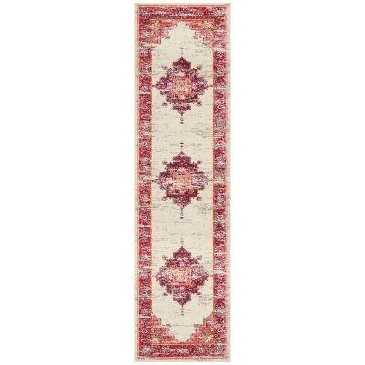 Babylon Zenovia Bohemian Runner Rug, 80x400cm, Pink