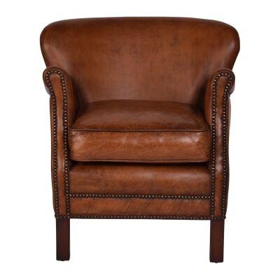 Brooks Aged Leather Armchair