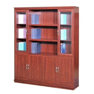 File Cabinet with 6 Doors and Open Shelves