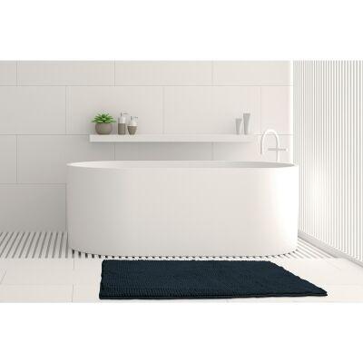 Algodon Toggle Bath Mat, 50x100cm, Navy