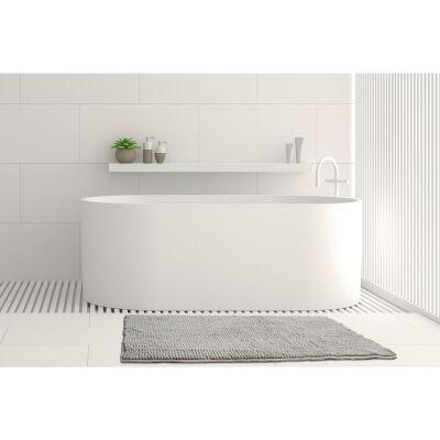 Algodon Toggle Bath Mat, 50x100cm, Silver