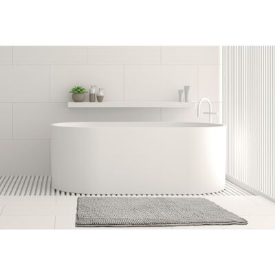 Algodon Toggle Bath Mat, 50x80cm, Silver