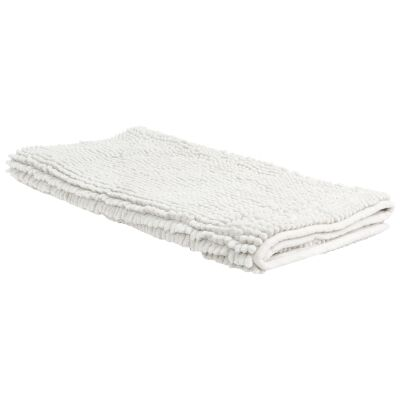 Algodon 1600gsm Microfibre Toggle Bath Mat, 100x50cm, White