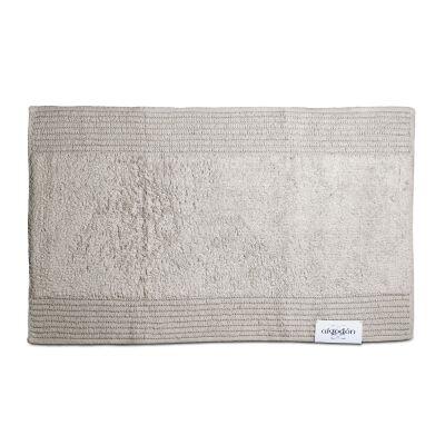 Algodon Mila Cotton Bath Mat, 50x80cm, Light Grey