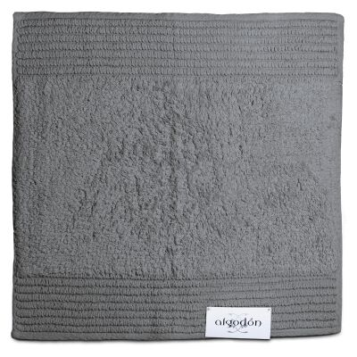 Algodon Mila Cotton Bath Mat, 50x50cm, Dark Grey