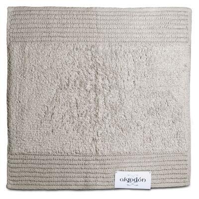 Algodon Mila Cotton Bath Mat, 50x50cm, Light Grey