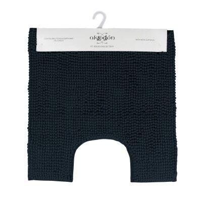 Algodon Toggle Contoured Bath Mat, 50x50cm, Navy