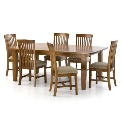 Greendale Tasmanian Oak Timber Dining Table (Table Only), 180cm