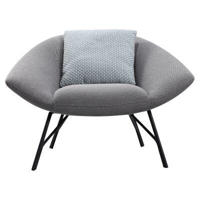 Soren Commercial Grade Fabric Lounge Chair, Grey