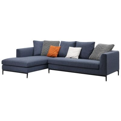 Leland Commercial Grade Fabric Corner Sofa, 3 Seater with LHF Chaise