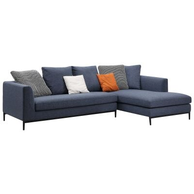 Leland Commercial Grade Fabric Corner Sofa, 3 Seater with RHF Chaise