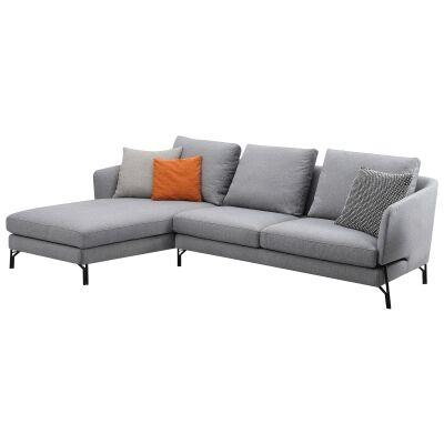 Dakota Commercial Grade Fabric Corner Sofa, 3 Seater with LHF Chaise
