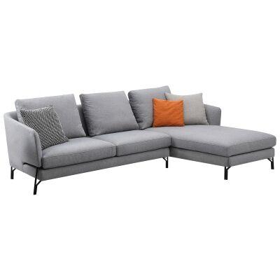 Dakota Commercial Grade Fabric Corner Sofa, 3 Seater with RHF Chaise