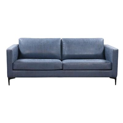 Rylan Commercial Grade Fabric Sofa, 3 Seater, Blue