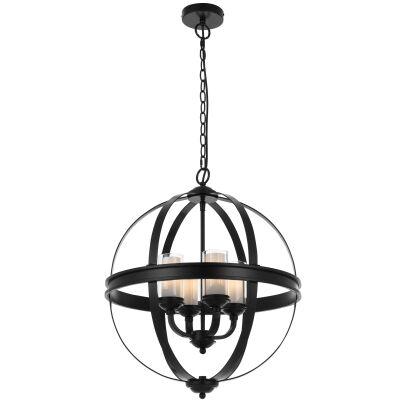 Bodum Metal Sphere Pendant Light, Black