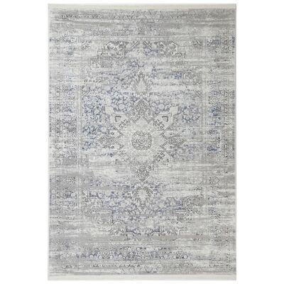 Bohemian Paradise No.06 Transitional Rug, 330x240cm, Grey / Blue