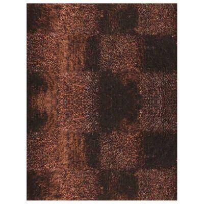 Borneo Hand Knotted Shaggy Rug, 200x140cm, Chocolate