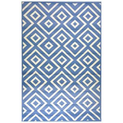 Botticelli Point Modern Rug, 170x117cm, Blue