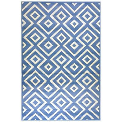 Botticelli Point Modern Rug, 200x290cm, Blue