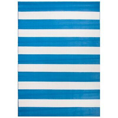 Botticelli Fat Stripes Modern Rug, 235x165cm, Blue
