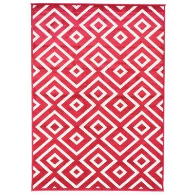 Botticelli Point Modern Rug, 200x290cm, Crimson