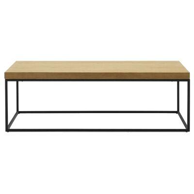 Bexy Wooden Top Metal Coffee Table, 120cm