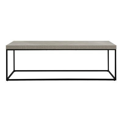 Bexy Cement Top Metal Coffee Table, 120cm