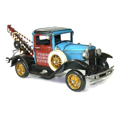 Boutica Handmade Tin Vehicle Model - Ford Tow Truck