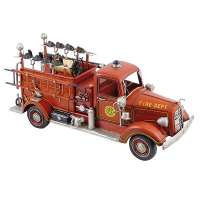 Boutica Handmade Tin Vehicle Model - 1938 Mack Fire Truck