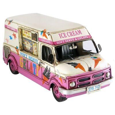 Boutica Handmade Tin Ice Cream Van Model