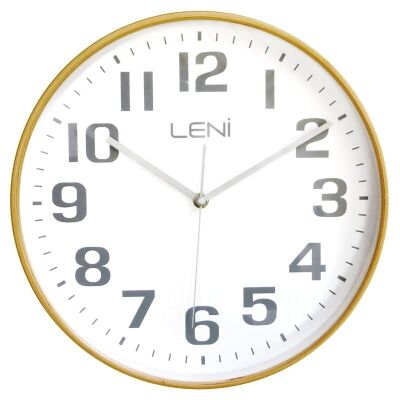 Leni Wooden Wall Clock, 28cm, White