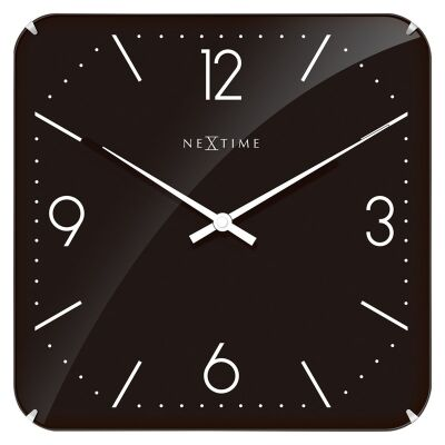 NeXtime Basic Square Dome Wall Clock - Black