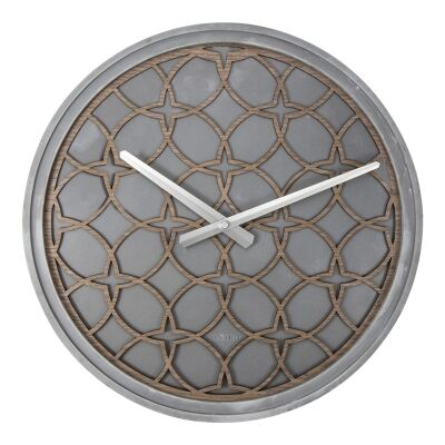 Nextime Concrete Love Round Wall Clock