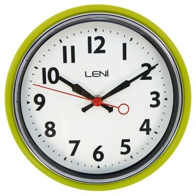 Leni Essential Metal Round Wall Clock - Bitter Lemon