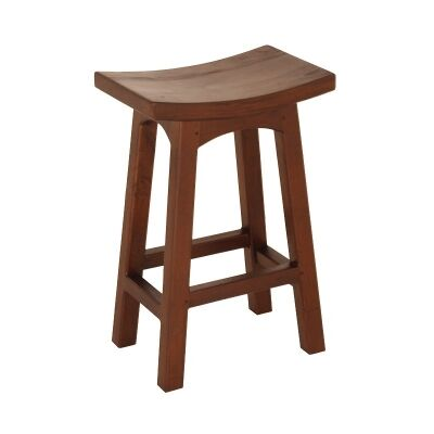 Showa Solid Mahogany Timber Counter Stool, Mahogany