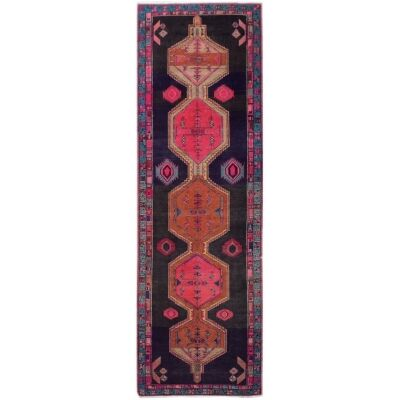 One of A Kind Maiya Hand Knotted Wool Persian Runner Rug, 396x121cm
