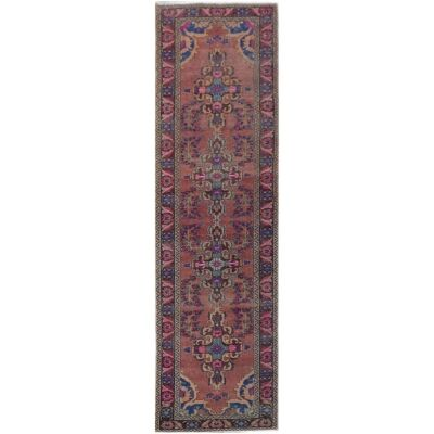 One of A Kind Shyam Hand Knotted Wool Persian Runner Rug, 400x101cm