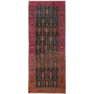 One of A Kind Lang Hand Knotted Wool Persian Runner Rug, 312x106cm
