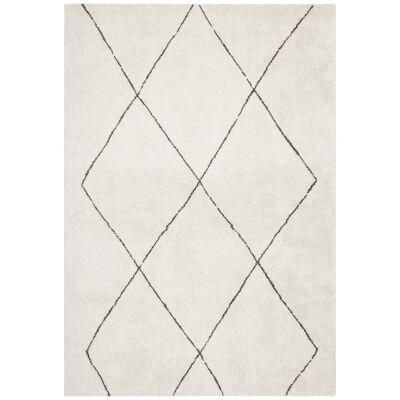 Broadway Diamond Modern Rug, 340x240cm, Ivory