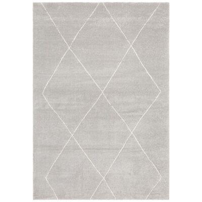 Broadway Diamond Modern Rug, 160x230cm, Silver