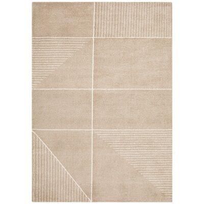 Broadway Lines Modern Rug, 160x230cm, Natural