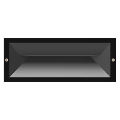 Brick IP65 Exterior Recessed LED Wall / Step Light, Charcoal