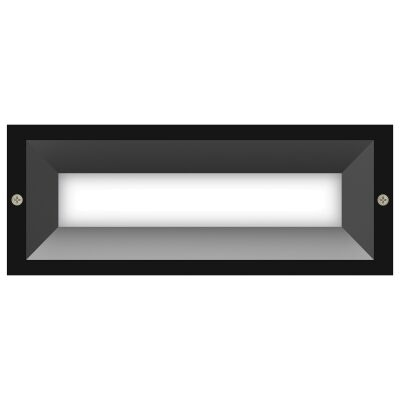 Brick IP65 Exterior Recessed LED Wall / Step Light with Diffuser, Charcoal