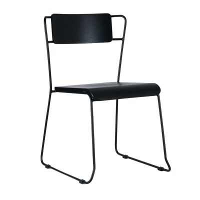 Bronx Commercial Grade Steel Dining Chair, Black