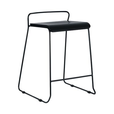 Bronx Commercial Grade Steel Counter Stool, Black