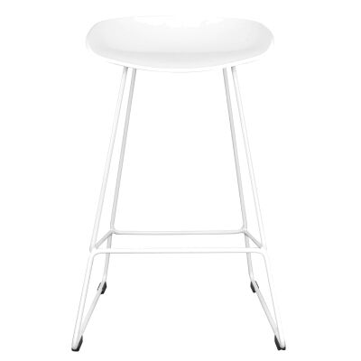 Folkets Steel Counter Stool, White