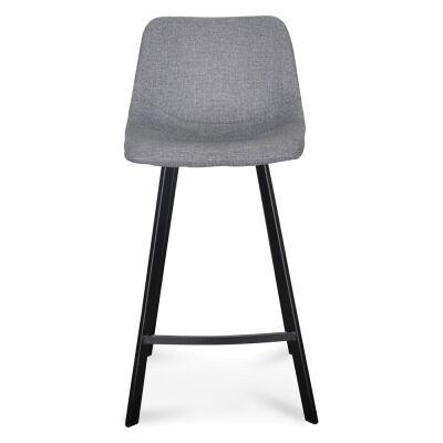 Set of 2 Olera Fabric Counter Stools, Grey