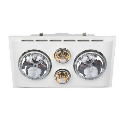 Lava Duo Bathroom Heater with Exhaust & LED Light, White