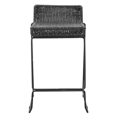 Harreby Metal Counter Stool with Cord Seat, Black